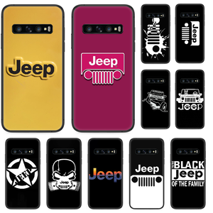 Jeep cool car Phone case For Samsung Galaxy S 10 20 3 4 5 6 7 8 9 Plus E Lite Uitra black hoesjes luxury back trend Etui pretty