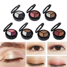 Glitter Eyeshadow Palette Cosmetics-Tools Makeup Matte Smokey Women 3-Colors Waterproof