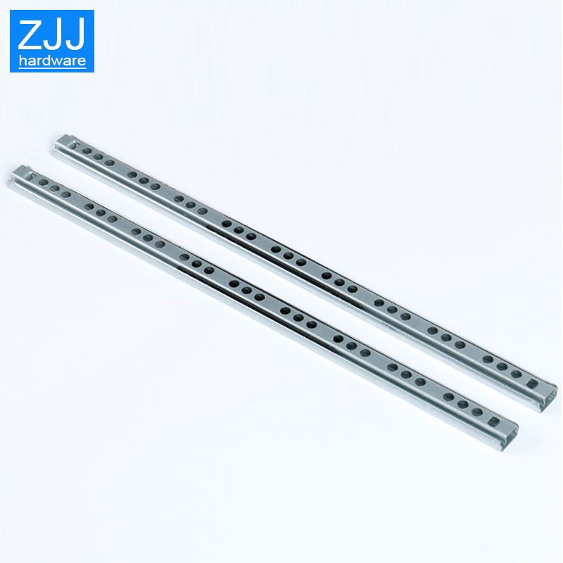Image 2 - Mini Two way sliding Drawer slides Ball Guide Two Sections 17mm Wide Steel Fold Drawer Steel Ball Slide Rail Furniture Hardware-in Slides from Home Improvement