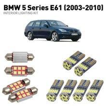 Led interior lights For BMW 5 series e61 2003-2010 19pc Lights Cars lighting kit automotive bulbs Canbus Error Free