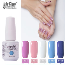 Arte Clavo Gel Nail Polish LED UV 85 Colors 8ml Esmalte Soak Off Base Top Coat Primer Gel Polish Gel Varnish Nail Art Manicure(China)