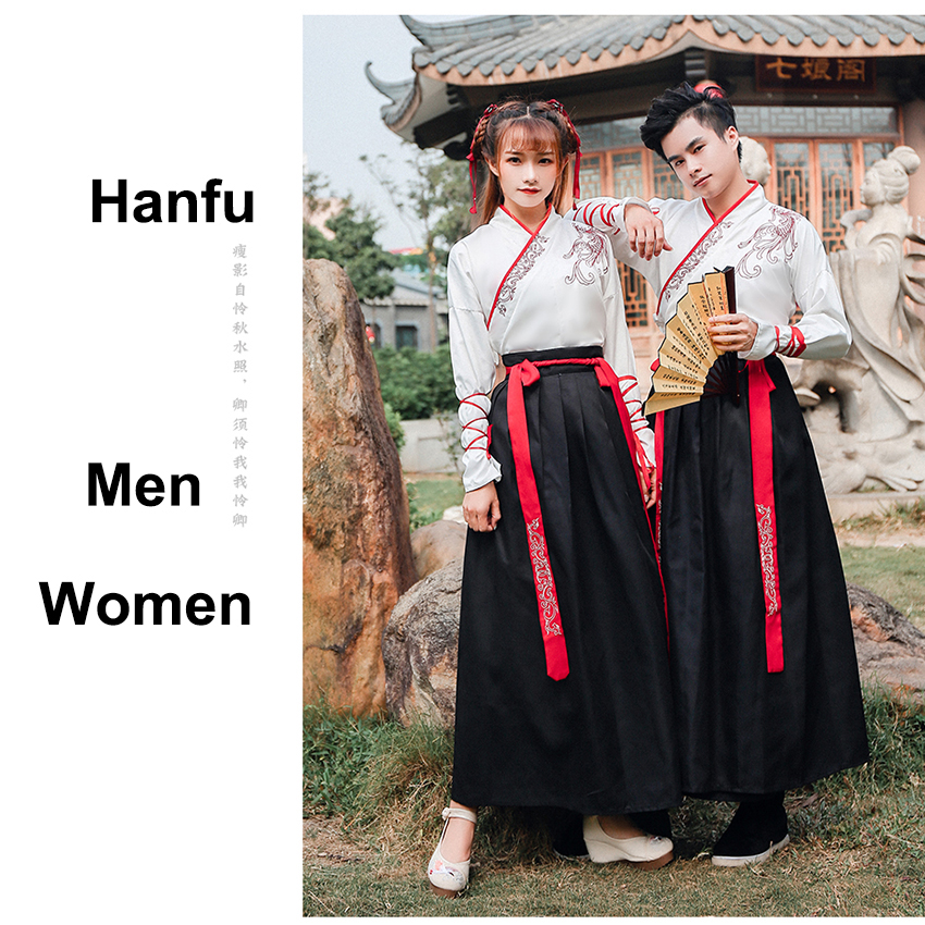 Hanfu Fancy Dance Costume Festival Outfits Chinese Style Costumes Folk Dress For Women Men Gown Lover Ancient Tangsuit Clothes