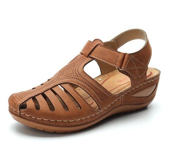 LITTHING женские летние кожаные сандалии ручной работы, удобные женские летние сандалии размера плюс Боссоножки и сандалии      АлиЭкспресс