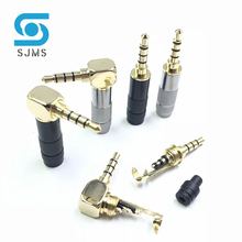 Clip Jack-Connector Cable Jack-Plug Repair Headphone Stereo Soldering 4-Pole Gold-Plated