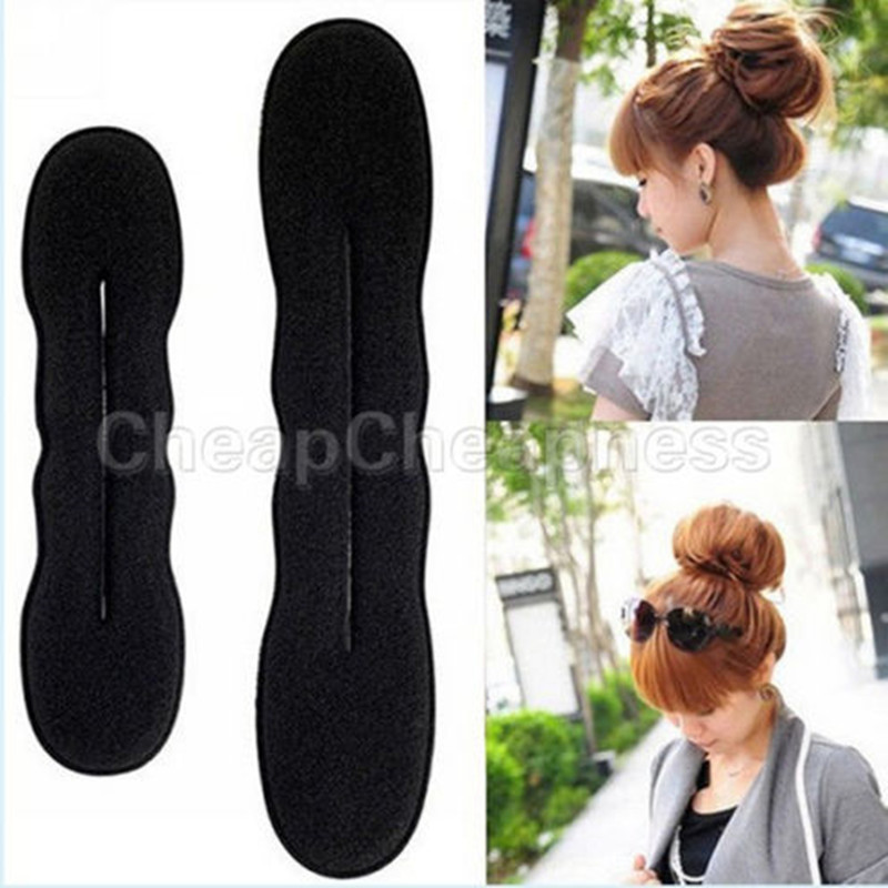 1/2PC Fashion Hair Styling Magic Sponge Clip Foam Bun Curler Hairstyle Twist Maker Tool Braider Accessories