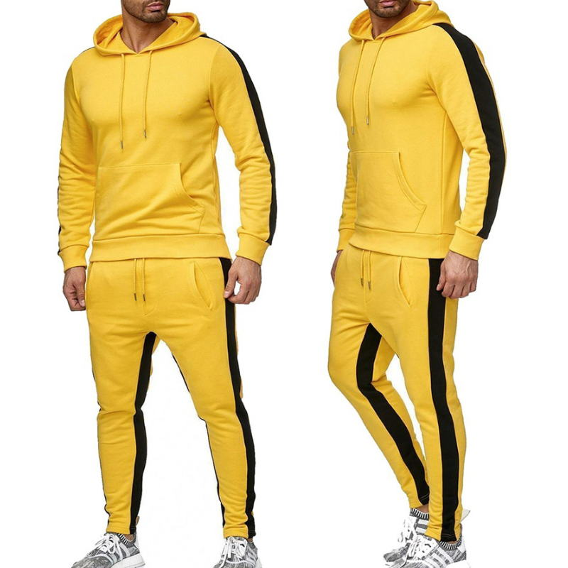 2020 New Brand Tracksuit men thermal underwear Men Sportswear Sets Fleece Thick hoodie+Pants Sporting Suit Malechandal hombre