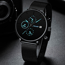Mens Fashion Classic Black Wristwatch Luxury
