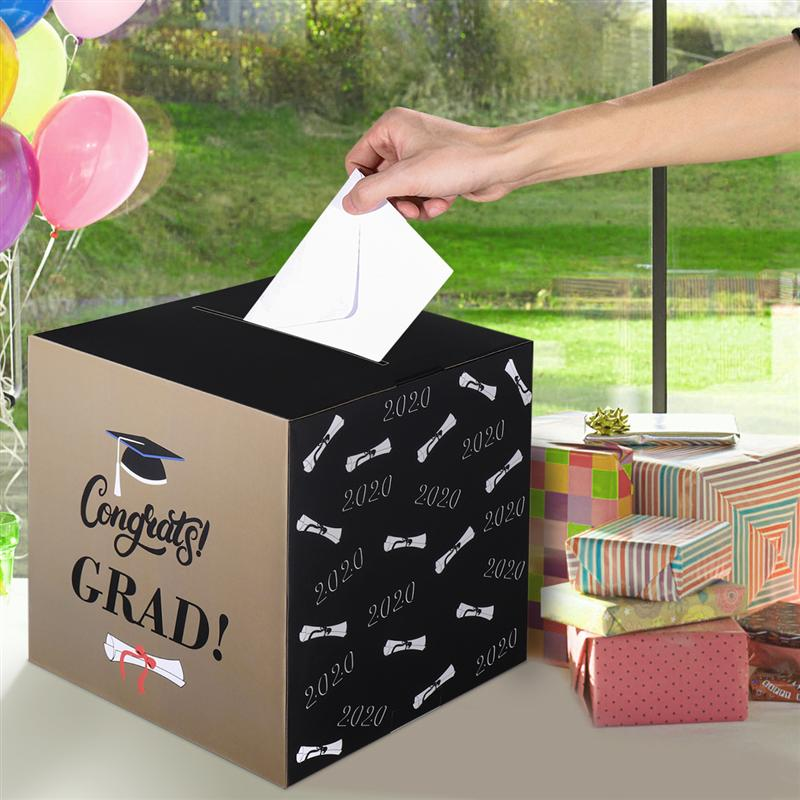 2020 Graduation Party Supplies Cards Box Gift Box Wish Cards Holder Paper Congrats Grad Card Case Classmate Class Gathering Party Diy Decorations Aliexpress