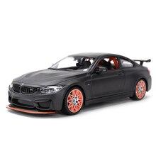 Maisto 1:24 BMW M4 GTS spor araba statik döküm araçları koleksiyon Model oyuncak arabalar