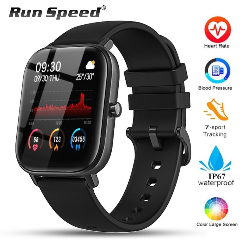 P8 Smart Horloge Mannen Vrouwen IP67 Waterdichte Fitness Tracker Sport Hartslagmeter Full Touch Smartwatch Voor Amazfit Gts Xiaomi