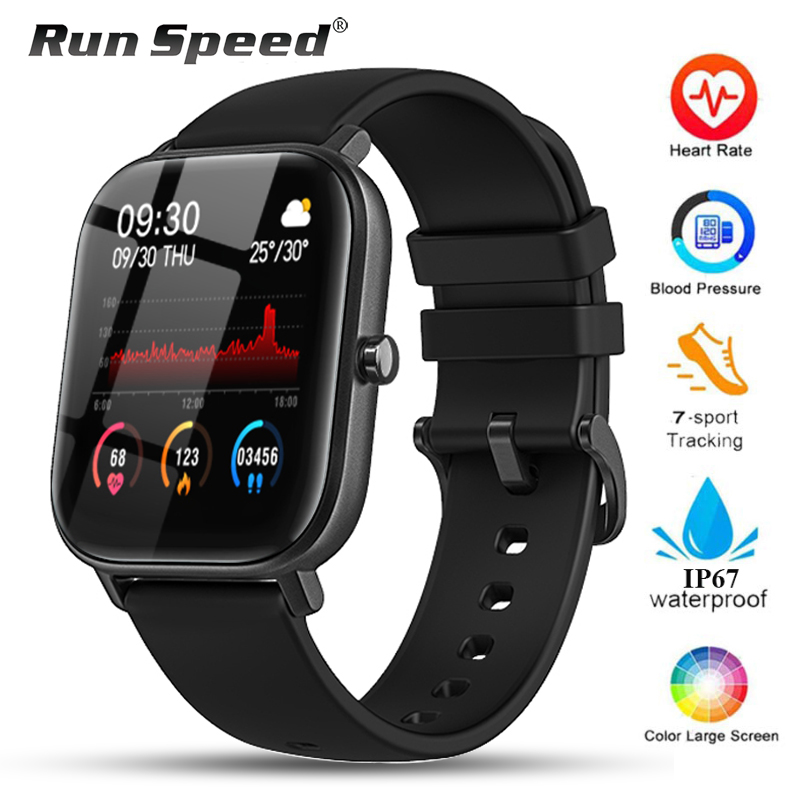 P8 Smart Watch Men Women IP67 Waterproof Fitness Tracker Sport Heart Rate Monitor Full Touch Smartwatch For Amazfit Gts Xiaomi