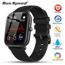 Relógio inteligente P8 IP67 para monitoramento, à prova dágua, unissex, controla atividades esportivas, monitor cardíaco, totalmente sensível ao toque, para Amazfit Gts Xiaomi