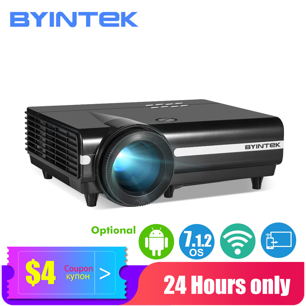 BYINTEK LED Projector BT96plus,Smart Android Wifi Cheap Proyector,LED Video Beamer for Full HD 3D 4K 300inch Home Theater(China)