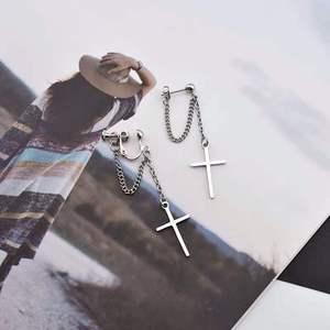 Япония и Южная Корея Харадзюку крутые E-girl девушка крест цепи кулон серьги для женщин мужчин Bff улица хип-хоп ювелирные изделия