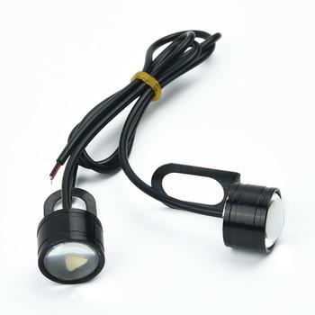 2Pcs Set White 12V Motorcycle White LED Spotlight Headlight Driving Light Fog Lamp 21.5*20*47mm Brand New And High Quality