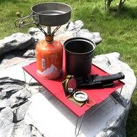 Ultra Licht Mini Picknick Bureau Aluminium Vouwen Thee Tafel Outdoor Camping Bergbeklimmen Wandelen Draagbare Barbecue Tafel Drinken Houden