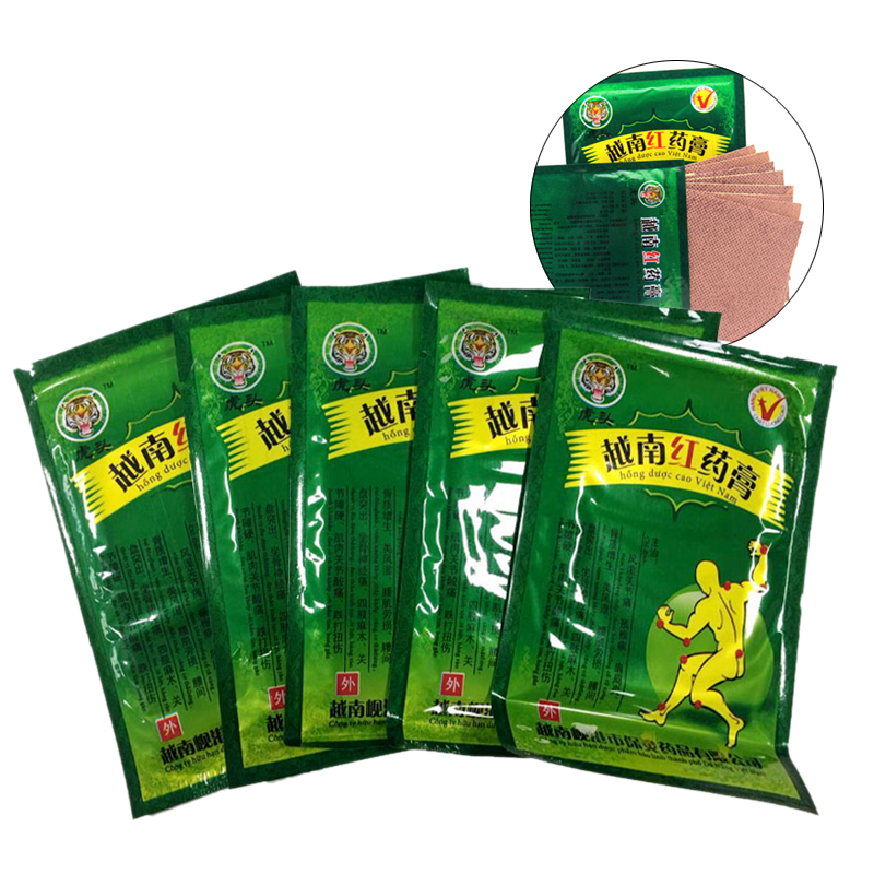 40Pieces Vietnam Red Tiger Balm Pain Patch Body Neck Massager Meridians Stress Relief Arthritis Capsicum Plaster Relieving Patch