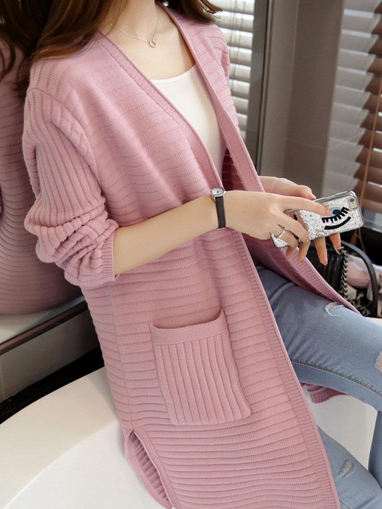DressUMen Leisure Long Sleeve Oversize Plaid Big Pockets Tee Polo Shirt
