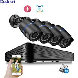 Gadinan H.265+ 5MP AI POE NVR CCTV Security Face Detection System Audio 5MP/2MP IP Camera Bullet Surveillance CCTV Video Kit