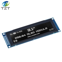 """TZT Real OLED Display  3.12"""" 256*64 25664 Dots Graphic LCD Module Display Screen LCM Screen SSD1322 Controller Support SPI