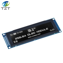"""TZT Real OLED Display  3.12"""" 256*64 25664 Dots Graphic LCD Module Display Screen LCM Screen SSD1322 Controller Support SPI"""