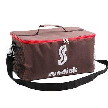 Outdoor Camping Hiking Picnic Bag Portable Food Storage Wild Tableware Cookware Set Pot Gas Tank Anti