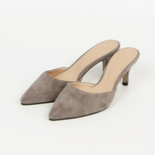 Pointed Toe Women Slippers Design Thin High Heels Slip On Fashion Blue Shoes Outdoor Causal Slides Slippers Mules Shoes B0080 stylish women s slippers with pointed toe and solid colour design