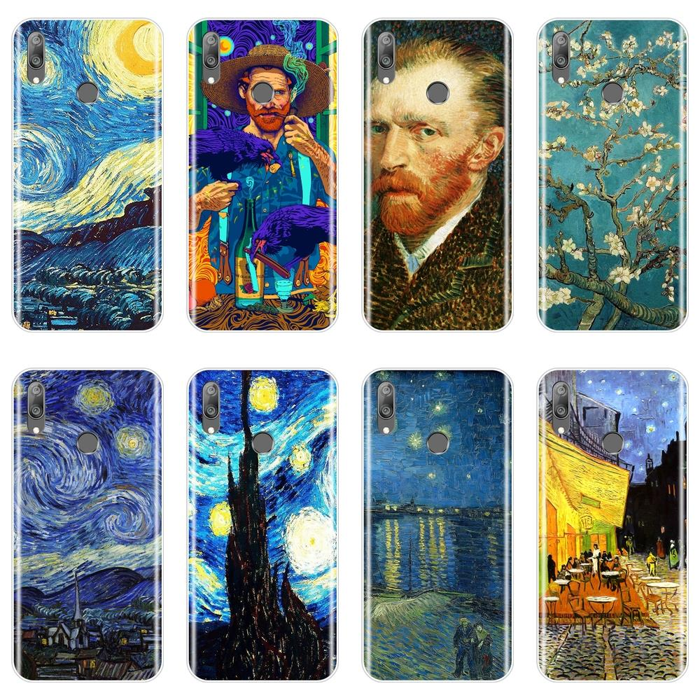 Van Gogh Painting Phone Case For <font><b>Huawei</b></font> Y6 <font><b>Y7</b></font> Y9 Pro <font><b>Prime</b></font> <font><b>2019</b></font> <font><b>Back</b></font> <font><b>Cover</b></font> For <font><b>Huawei</b></font> Y5 Y6 <font><b>Y7</b></font> <font><b>2019</b></font> Case image