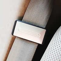 2 uds. Asiento de seguridad de coche ajustable cinturón soporte tapón hebilla abrazadera vehículo portátil gancho de cinturón de seguridad accesorios de Interior de coche