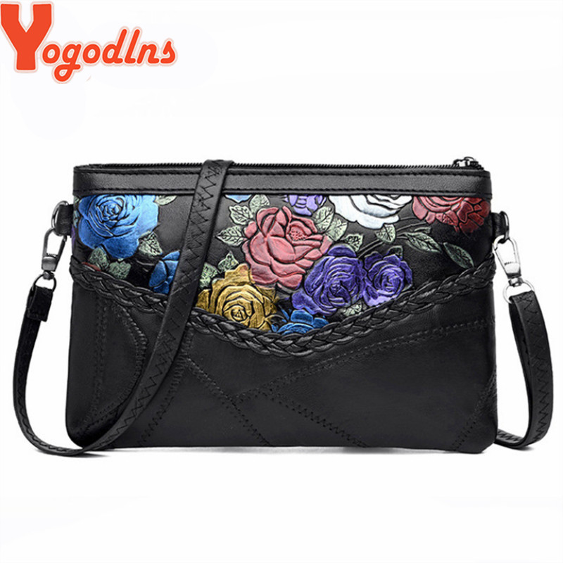 Yogodlns Women's  Designer Sheepskin Handbag 2019 Fashion New High Quality Genuine Leather Women Handbags Shoulder Messenger Bag