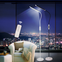 Modern Remote Control LED Floor Lamp Standing Light Living room Bedside Study Office LED Stand Piano Lamps Touch Dimmer Golden