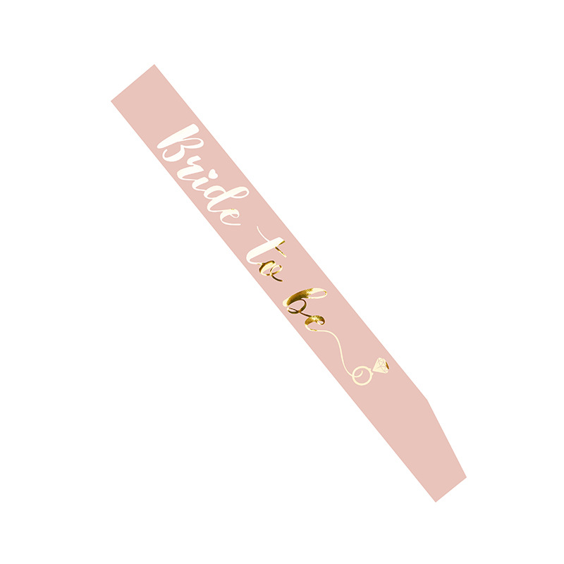 Image 2 - Bride to Be Sash with Team Bride for Hen Party Decoration Wedding Bridal Shower Gold Letter HW67Party DIY Decorations   -