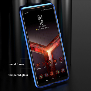 Image 2 - Front & Rear Double Sides Tempered Glass Transparent Magneto Phone Case for ASUS ROG Phone II 2 / ZS660KL