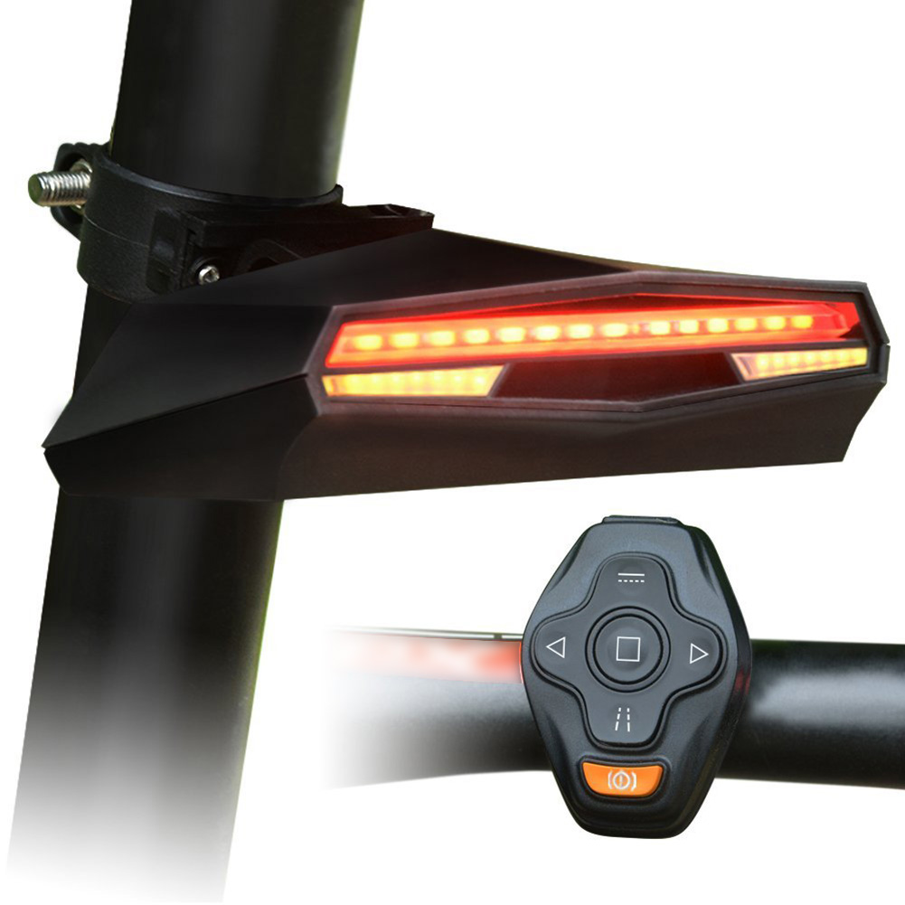 Wireless <font><b>Bike</b></font> Tail <font><b>Light</b></font> Smart USB Rechargeable Cycling Accessories Remote Turn led Bicycle <font><b>Rear</b></font> <font><b>Light</b></font> laser <font><b>Signal</b></font> image
