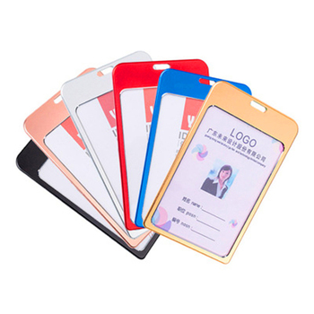1PC Aluminum alloy employee ID card Credit Card holder ID card holder access control badge holder Without rope 2016 new aluminium alloy employee worker id card holder with lanyard