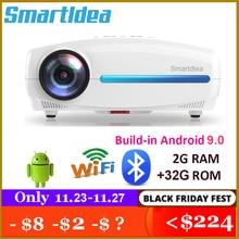 Smartldea Proyector LED 3D para cine en casa, dispositivo con Android 9,0, 2G + 32G, Wifi, 1920x1080P, Full HD