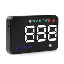 Affichage universel du compteur de vitesse HUD GPS pour voiture A5, numérique sur alerte de vitesse, projecteur, pare brise, Navigation automatique, nouveau