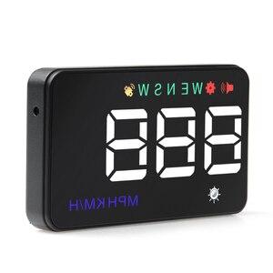 Image 1 - عداد السرعة الجديد يونيفرسال HUD للسيارات مزود بنظام تحديد المواقع ومقياس السرعة شاشة عرض لصوت A5 رقمي أكثر من سرعة تنبيه الزجاج الأمامي Projetor ملاحة آلية
