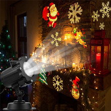 Stage Light Led Projector Christmas Halloween Snowflake Spotlight With 16 Slides Controller For Holiday Party Decoration #