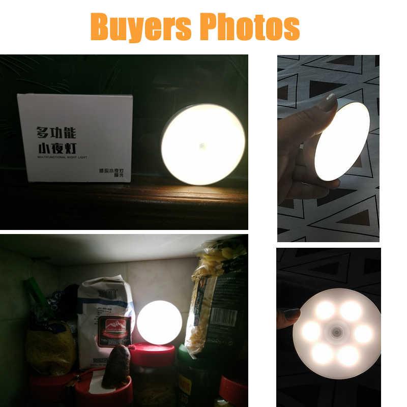6 led モーションセンサーナイトライトオート on/off ワイヤレス壁ランプマグネットの usb 充電式寝室階段キャビネットワードローブ