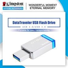 Kingston-unidad Flash USB 3,0 DT50, Pendrive de Metal de 16GB, 128GB, 32GB, 64GB, DT104, memoria USB 2,0