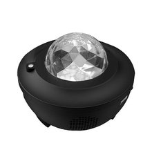 Lampa Led muzyka projekcja nieba kabel USB Led bezprzewodowa sterowana głosem lampa laserowa radu gwieździste niebo lampa płomieniowa z paskiem wodnym tanie tanio ICOCO ROHS CN (pochodzenie) Łóżko pokój Black Led Music Sky Projection Lamp Z tworzywa sztucznego Brak 110 v Pilot zdalnego sterowania