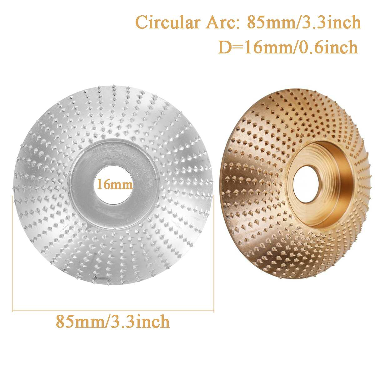 Wood Angle Grinding Wheel Sanding Carving Rotary Tool Abrasive Disc For Angle Grinder Tungsten Carbide Coating Bore Shaping