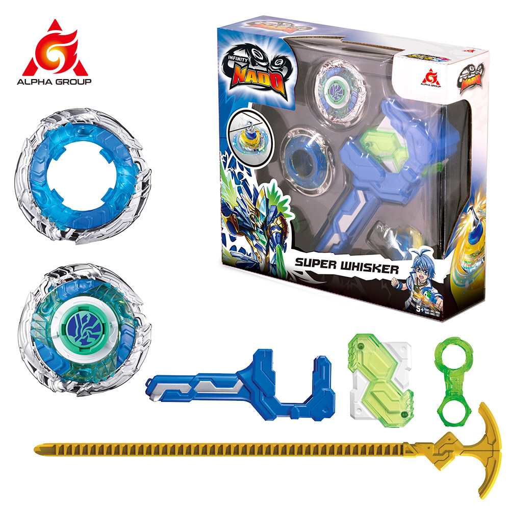 Gyro Infinity Nado 3 Stunt Set Toy Combination Transforming Split Arena Launcher Spinning Top Battle Set Kids Toys Beyblade Toy