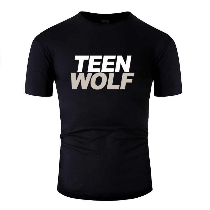 الطباعة الجديدة في سن المراهقة الذئب فيلم المسلسل التلفزيوني التي شيرت الرجال الشهيرة س الرقبة رجالي تي شيرت حجم كبير S-5xl الهيب هوب