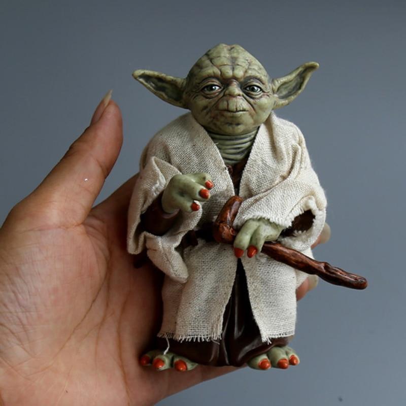 12cm Star Wars Jedi Knight Master Yoda PVC Action Figure Collectible Marvel Star Wars Yoda PVC Model Doll Kids Brinquedos 4