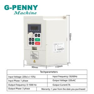 Image 4 - 220v 1.5kw ER11 CNC Water Cooling Spindle Motor Spindle Water cooled Wood Working &1.5kw VFD Inverter Variable Frequency Drive