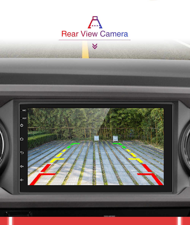"Amprime 2 Din Auto Radio 7 ""Autoradio Android Auto Multimedia Gps Bluetooth Fm/Usb/Aux MP5 Speler 2din Auto Stereo Backup Monitor"