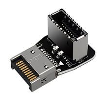 Tipo-e placa-mãe do computador de 90 graus usb3.1 10g frente tipo-c instalado adaptador de conector do conversor de fiação