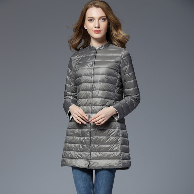 2020 Ultra Light Down Jacket Women Long Autumn Winter Duck Down Coat Female Puffer Jacket Chaqueta Mujer 5030 KJ3075